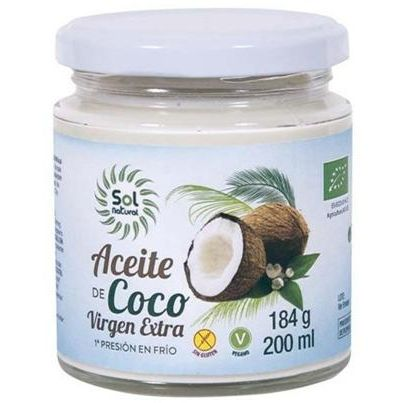 ACEITE DE COCO VIRGEN EXTRA BIO 200 ML SOL NATURAL