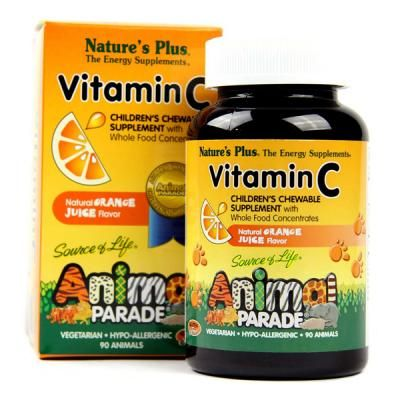 ANIMAL PARADE VIT C 90 COMP MASTICABLES NATURES PLUS