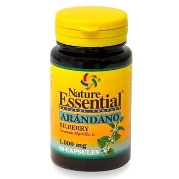 ARANDANO NEGRO BILBERRY 1000 MG 50 CAPS NATURE ESSENTIAL