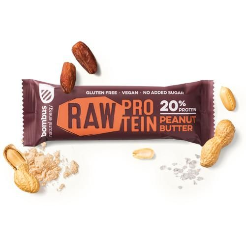 BARRITAS RAW PROTEIN CREMA CACAHUETES 1 UD 50 G BOMBUS