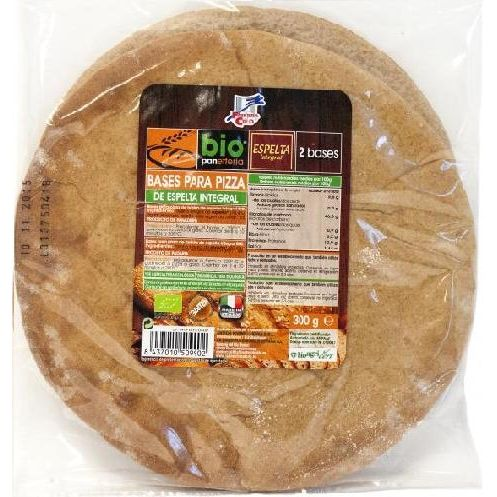 BASE DE PIZZA ESPELTA INTEGRAL BIO 300 G FINESTRA