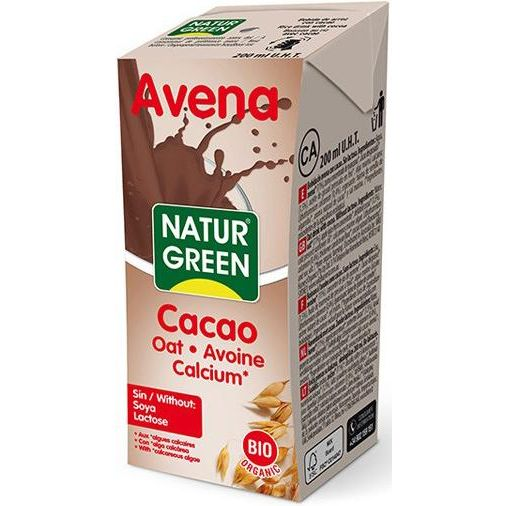BEBIDA DE AVENA CHOCO CALCIO BIO 200 ML NATURGREEN