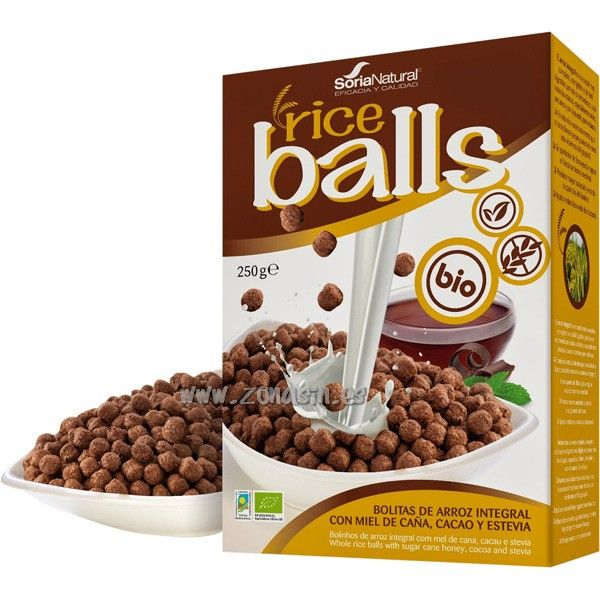 BOLITAS ARROZ CHOCOLATE BIO 250 G SORIA NATURAL