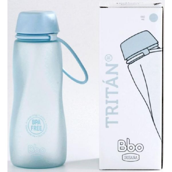 BOTELLA BBO TRITAN AZUL 500 ML IRISANA