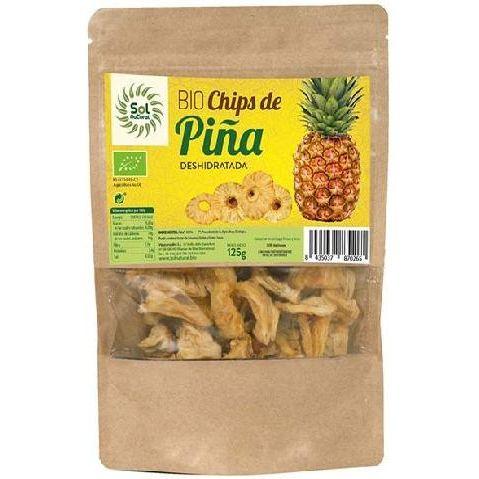CHIPS PIÑA DESHIDRATADA BIO 125 G SOL NATURAL