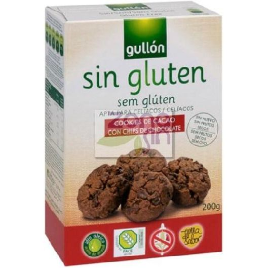 COOKIES CACAO CHIPS 200 G GULLON