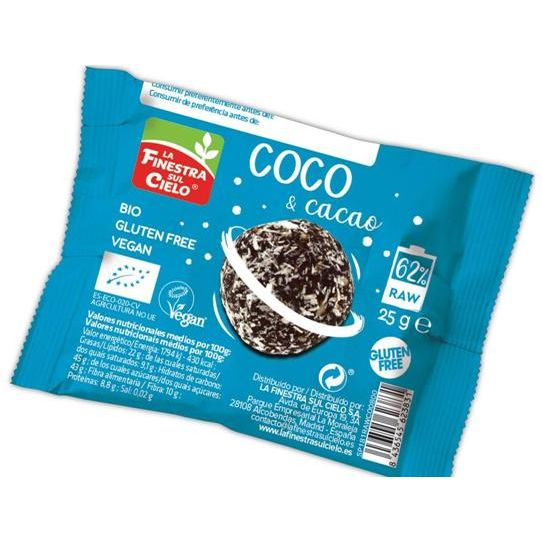 ENERGY BALL COCO CACAO 25 G FINESTRA