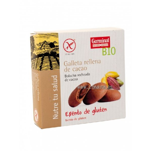 GALLETAS CHOCOLATE RELLENAS CACAO BIO 200 G GERMINAL