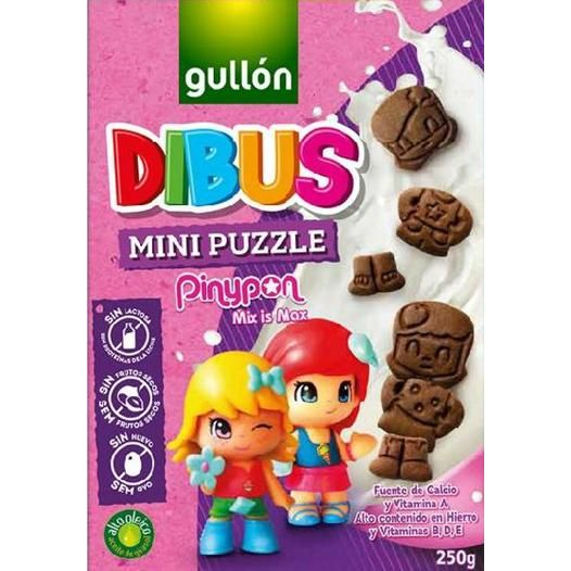GALLETAS DIBUS MINI PUZZLE CHOCO 250 G GULLON