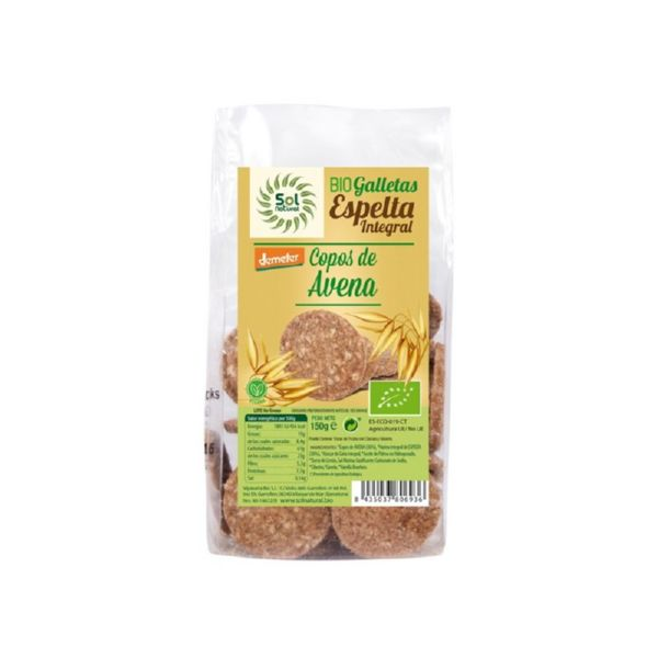 GALLETAS ESPELTA Y AVENA BIO 150 G SOL NATURAL