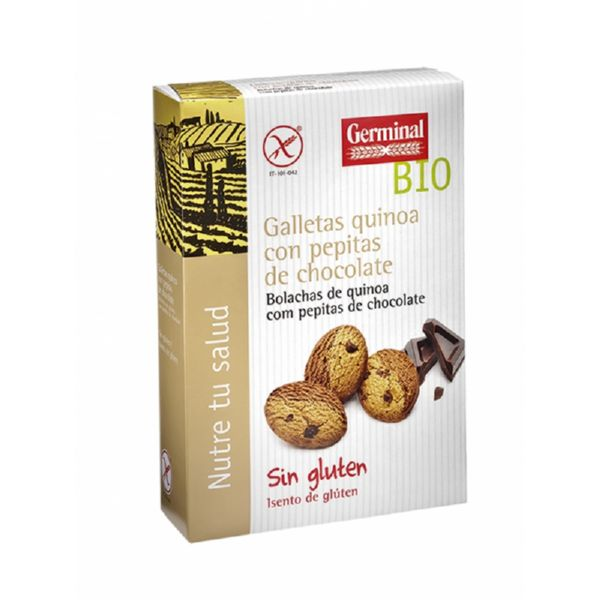 GALLETAS QUINOA PEPITAS CHOCOLATE SIN GLUTEN BIO 250 G GERMINAL