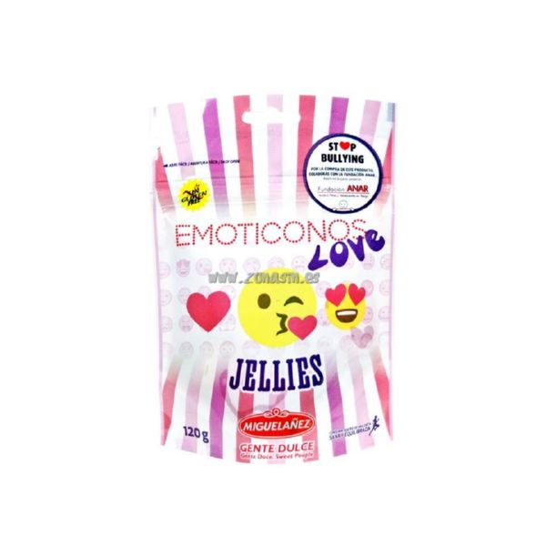 GOMINOLAS EMOTICONOS LOVE 120 G MIGUELAÑEZ