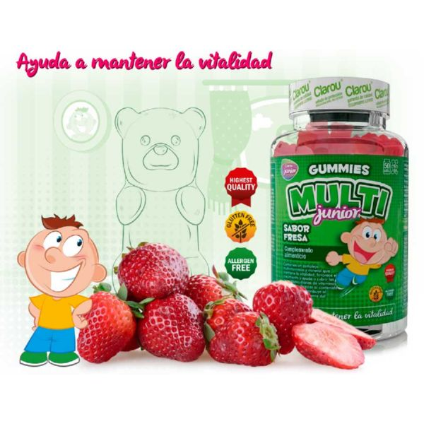 GUMMIES MULTI JUNIOR FRESA 50 UD CLAROU