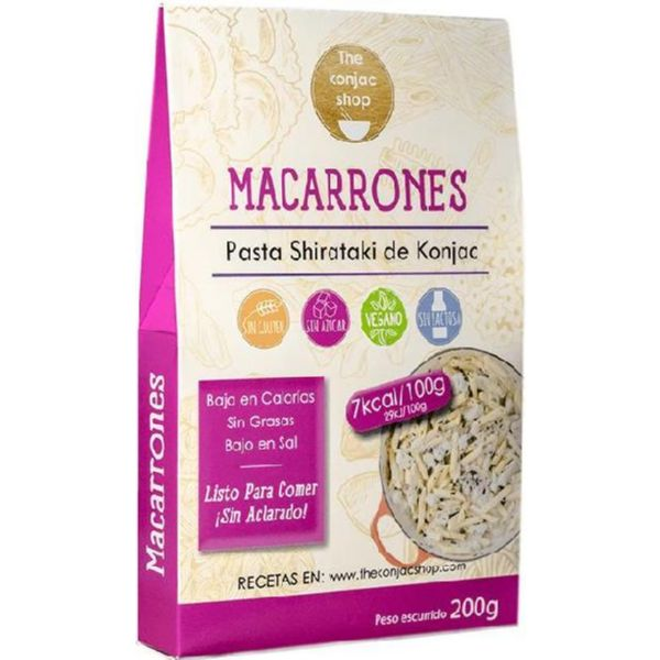 MACARRONES KONJAC 200 G THE KONJAC SHOP