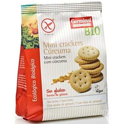 MINI CRACKERS CURCUMA BIO 100 G GERMINAL