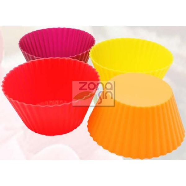 MOLDE SILICONA CUP CAKES 6 UD SILICONE GOLD