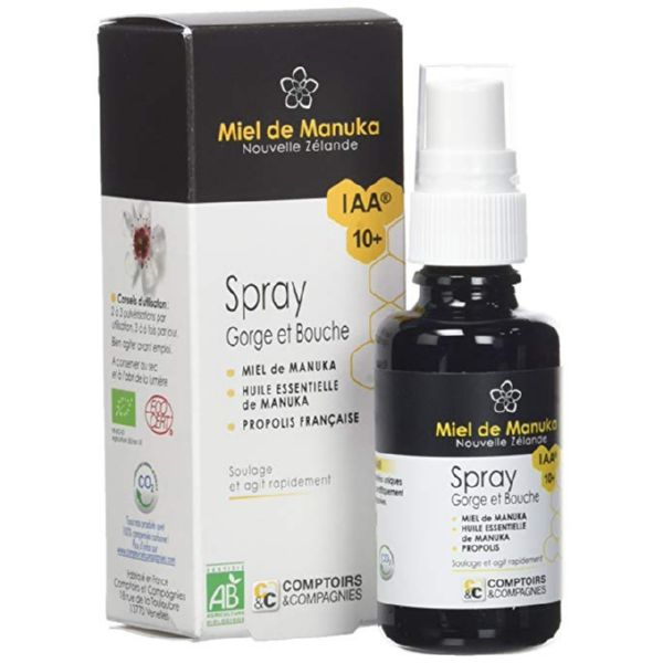 PROPOLIS MIEL MANUKA IAA 10+ SPRAY 25 ML COMPTOIRS&COMPAGNIES