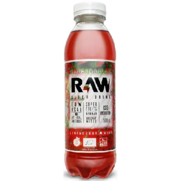 RAW ORGANIC FRESA Y MENTA SUPER DRINK 500 ML