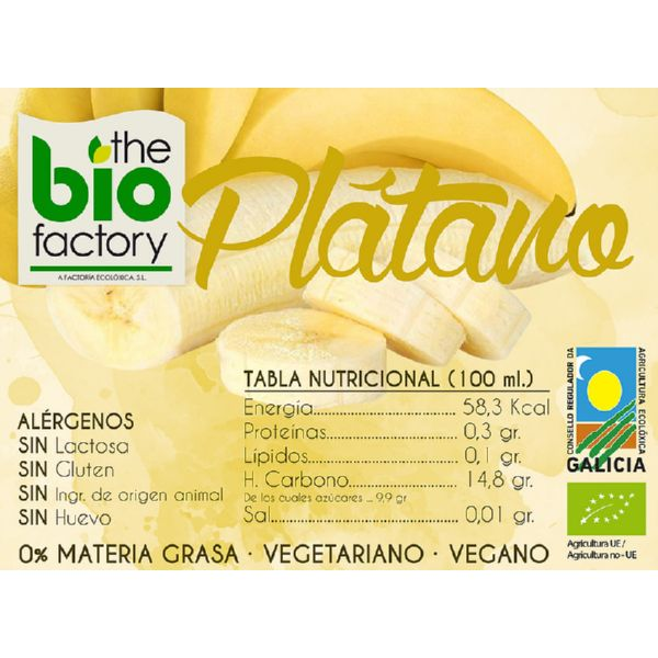 VASITO HELADO PLATANO BIO 100 ML THE BIO FACTORY